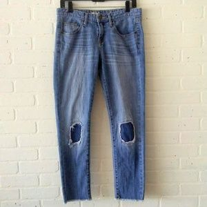 Mossimo Boyfriend Crop Jeans Distressed 0